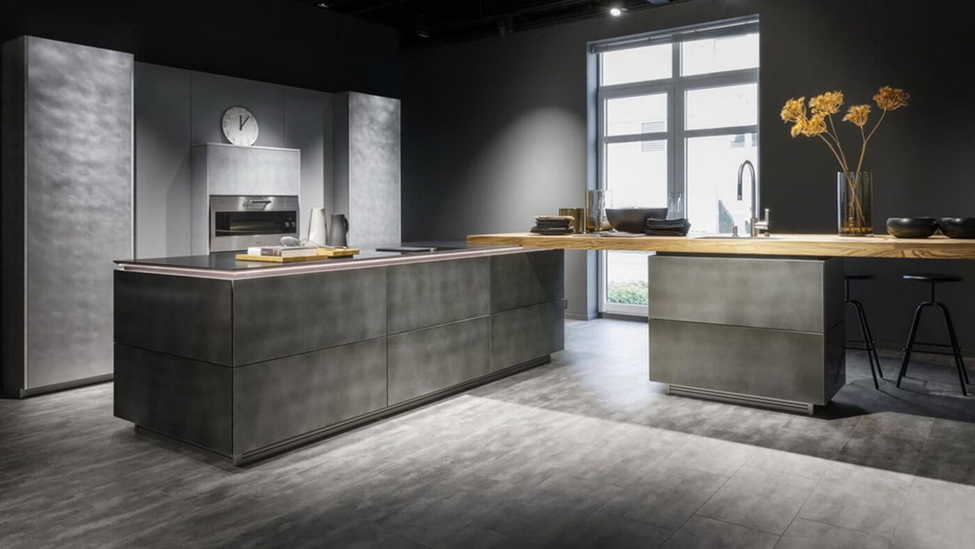 Beatiful New German Steel Finish Kitchen from Waredorf at Sheths